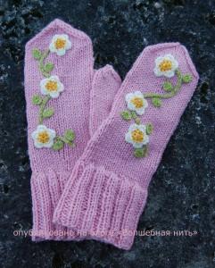 украшаем рукавички крючком