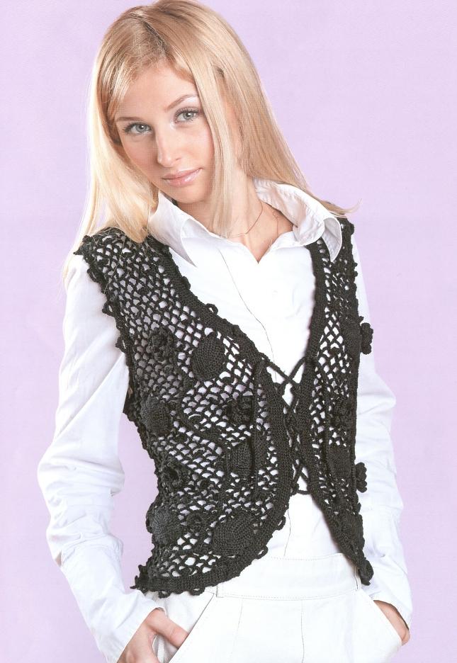 вязание жилет схемы: