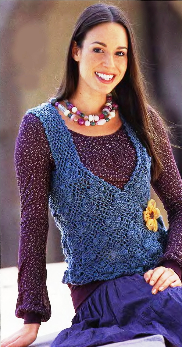 схемы вязание жилеток для женщин