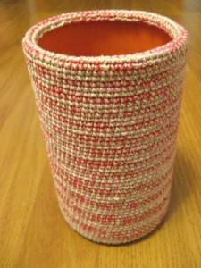 вязаная ваза крючком