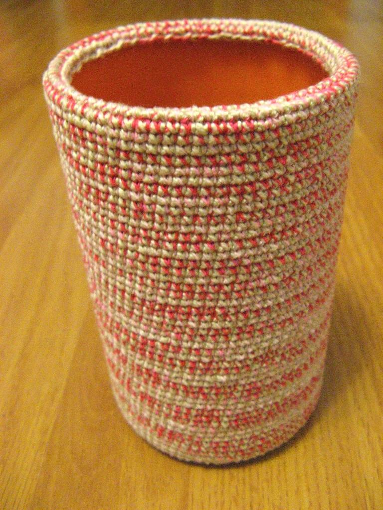 Вязаные вазы. вязаные вазы .  Вязание спицами и крючком, схемы вязания.