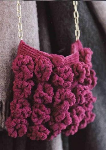 схема вязаной сумки из мотивов - Сумки.