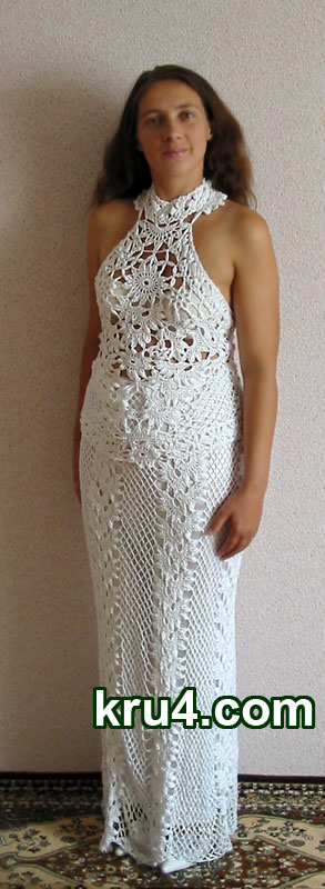 платье свадебное крючком