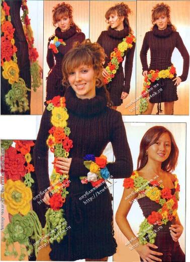 Схемы вязания цветов и