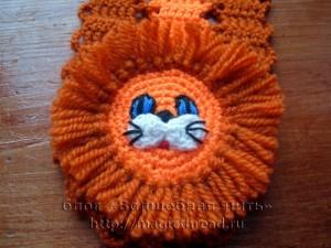 вязаный шарфик для малыша