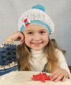 панамка для девочки крючком