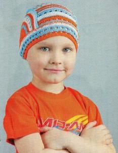 шапочка для мальчика на лето