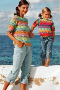 детский пуловер крючком