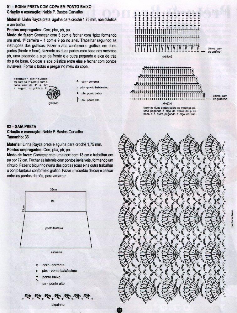 Схемы крючком для вязания юбки для начинающих