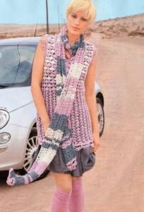 вязаный топ и шарф