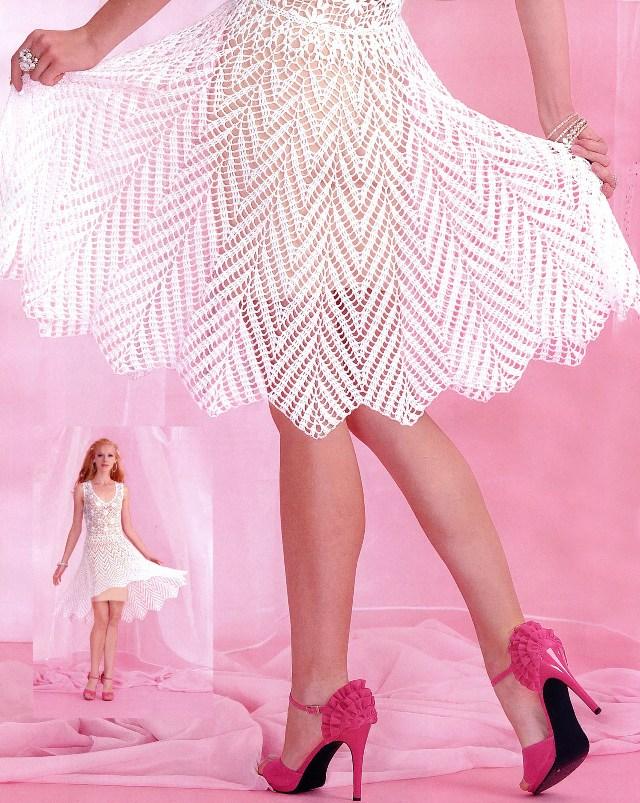 свой цитатник или сообщество!  Белоснежное платье с юбкой *клеш* (крючок).  Прочитать целикомВ.