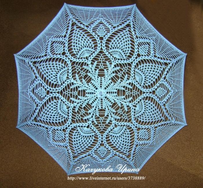 зонт крючком · Мастер-класс
