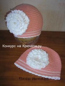 вязаные шапочки на лето