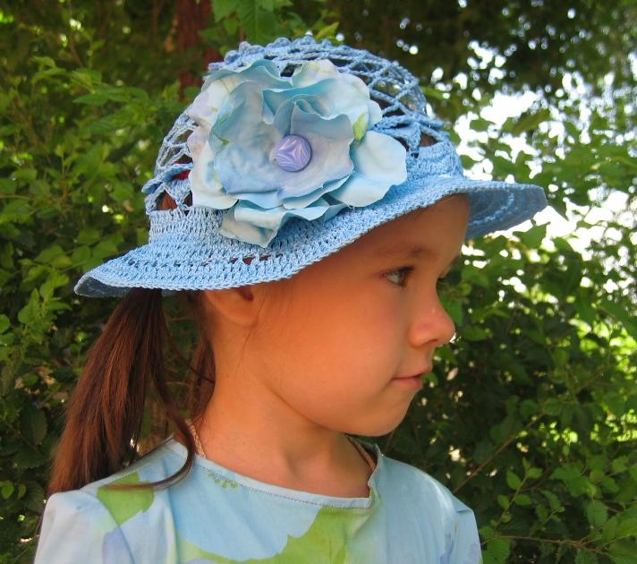 Головные летние уборы для девочек своими руками 99