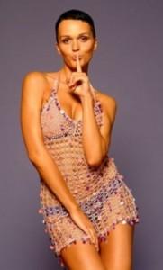 вязаное платье на славе