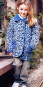 вязаное пальто крючком для девочки