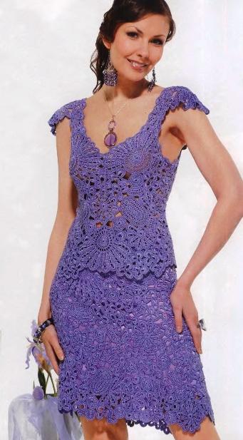 Вязанные платья также могут