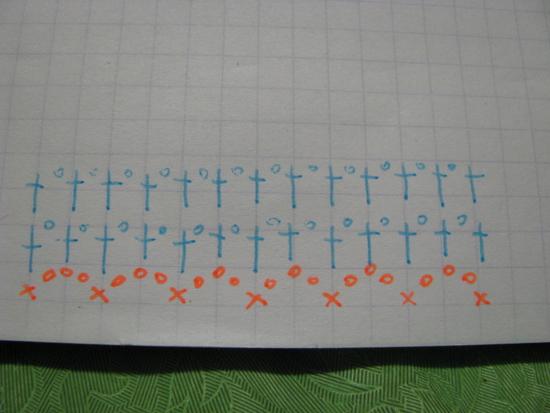 схема для вязания гетр