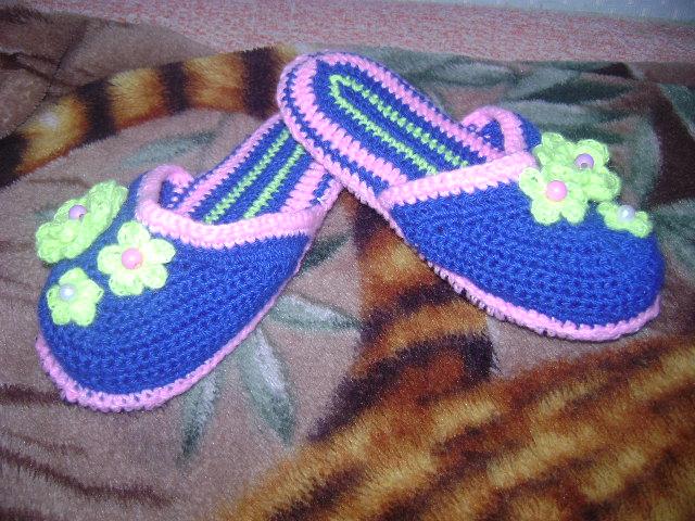 Фото вязание крючком тапочек