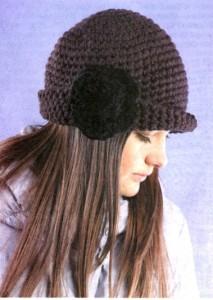 Комментарий: в разделах: вязание крючком шляпок.
