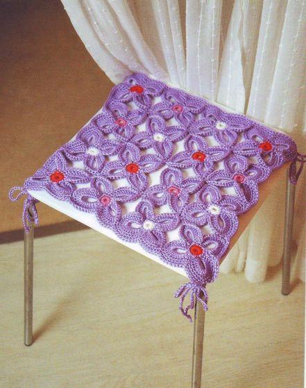 Накидка на табурет Вам потребуется: пряжа .  Вязание крючком; Для...