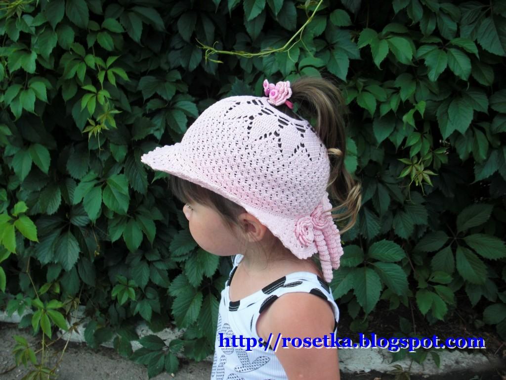 Шляпка принцесса связана из