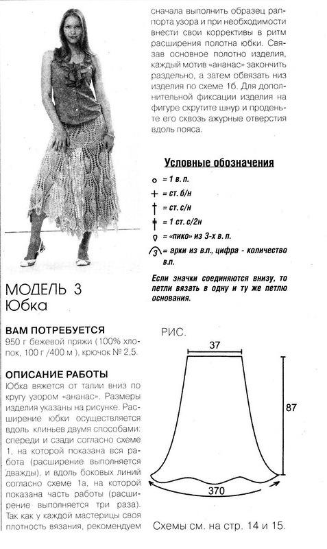 Ажурная юбка крючком.  Гвоздика связанная крючком.  Вязаное крючком платье.  Платья, юбки...  Категория.