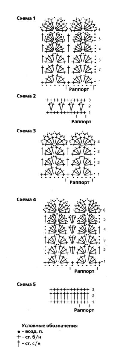 Схемы для вязания крючком для девочки 1 3