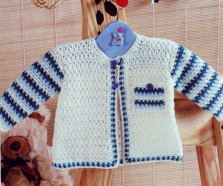 Найти схему вязание кофточки для малыша.