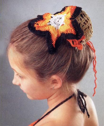 украшение для волос крючком