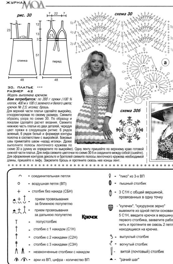 Как связать летний сарафан крючком схема описание 33
