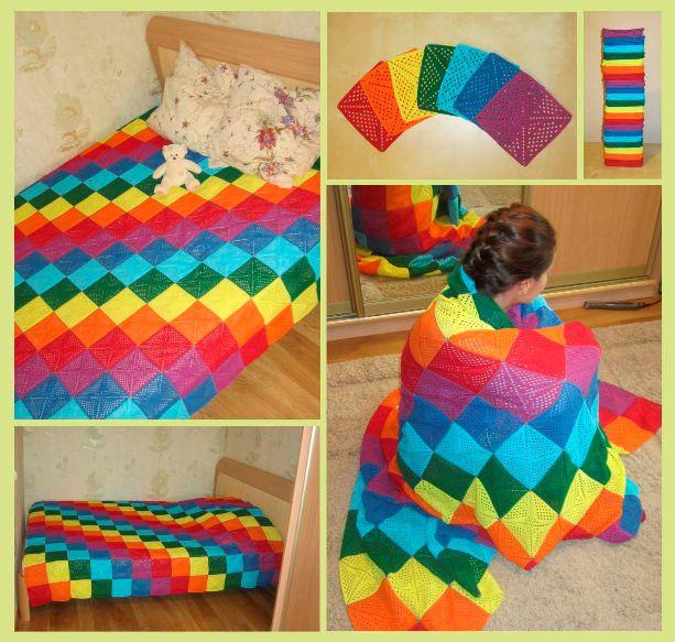 Плед из квадратов вязание красиво и легко