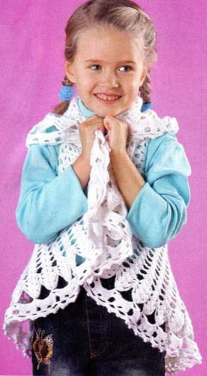 Круглая шаль для девочки.