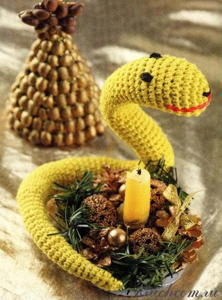 Для вязания змейки Вам