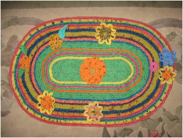 Блог о ... вязание ковриков из пакетов ... вязание крючком игрушки смешарики.