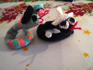 змейки крючком