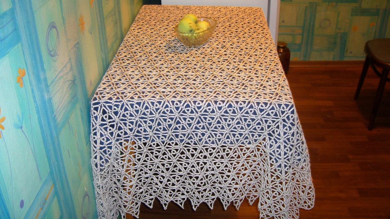 Скатерть стол связанная крючком