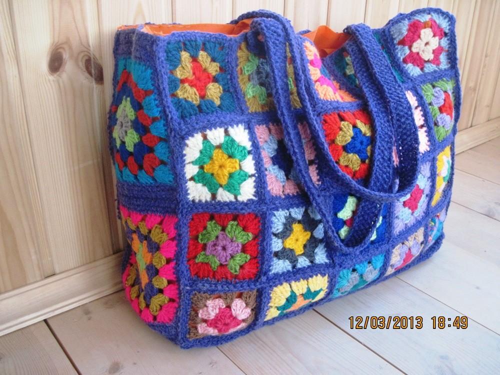 Вязаная сумка своими руками схемы