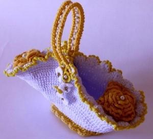 детская сумочка с цветами крючком