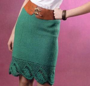 вяжем юбку крючком