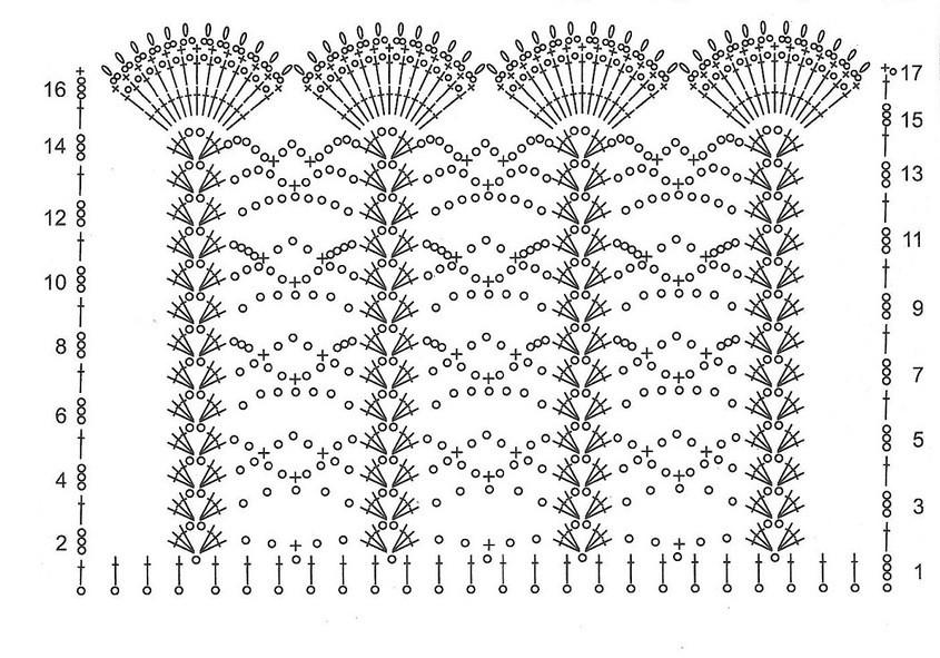 схема для вязания ажурного