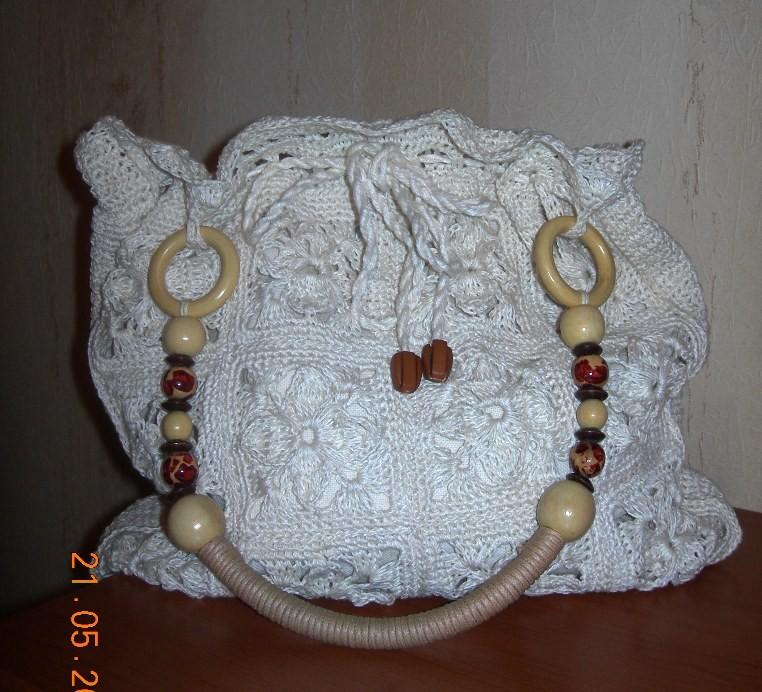 сумка крючком из ажурных