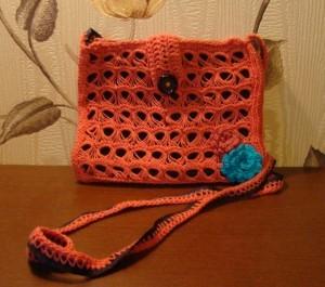 вязаная сумка брумстик