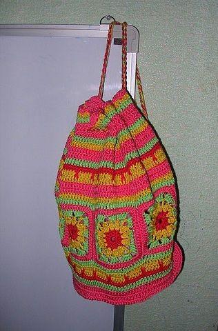 вязаный рюкзак детский