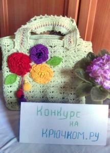 вязаная сумочка на весну крючком