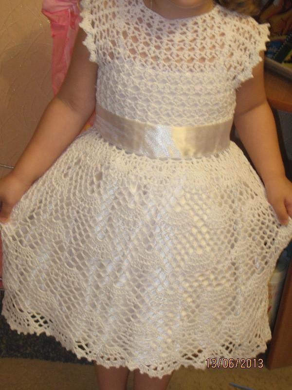 Связать платье для девочки
