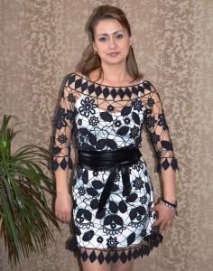 вязаное платье из ирландского кружева с описанием