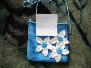 сумочка с цветами крючком