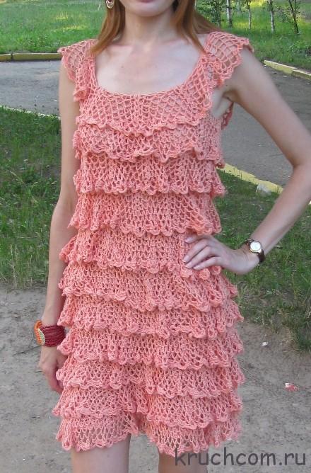Вязание крючком платья сарафаны на лето новые серии 160