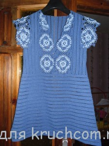 мини-платье крючком